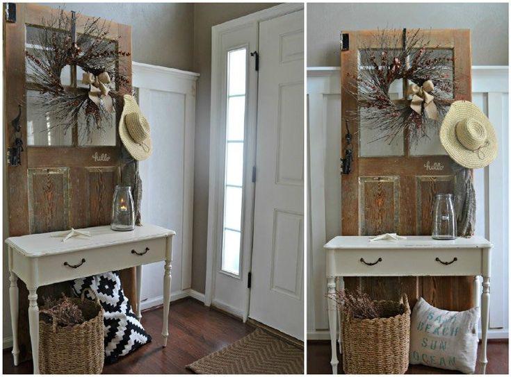Garderobe aus alter Tür selber bauen: Anleitung und weitere Ideen