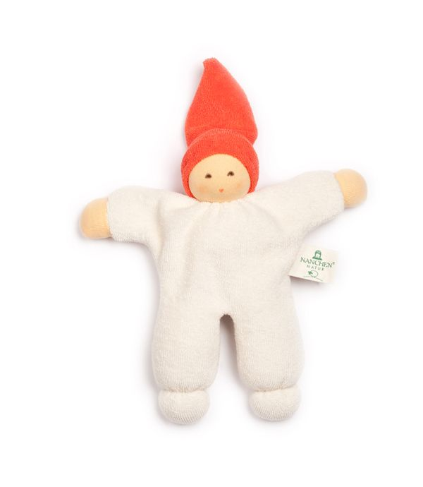 Babies first friend. Organic Soft Doll with Rattle by German Eco Label Nanchen Natur. Fantastic Christmas Stocking Filler!