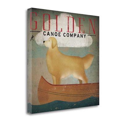 'Golden Dog Canoe Co' Graphic Art Print on Canvas
