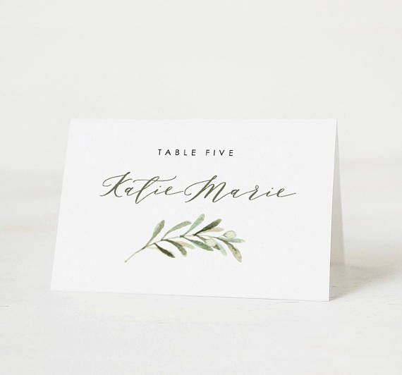 Printable Place Card Template Wedding Place Card Name Tags Etsy Wedding Place Card Templates Place Card Template Wedding Place Cards