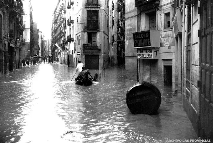 Barrio del Carmen. Riada de Octubre de 1957