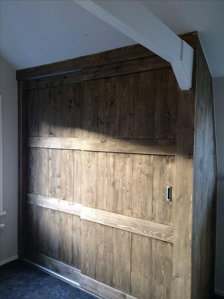 Vuren houten schuifkast