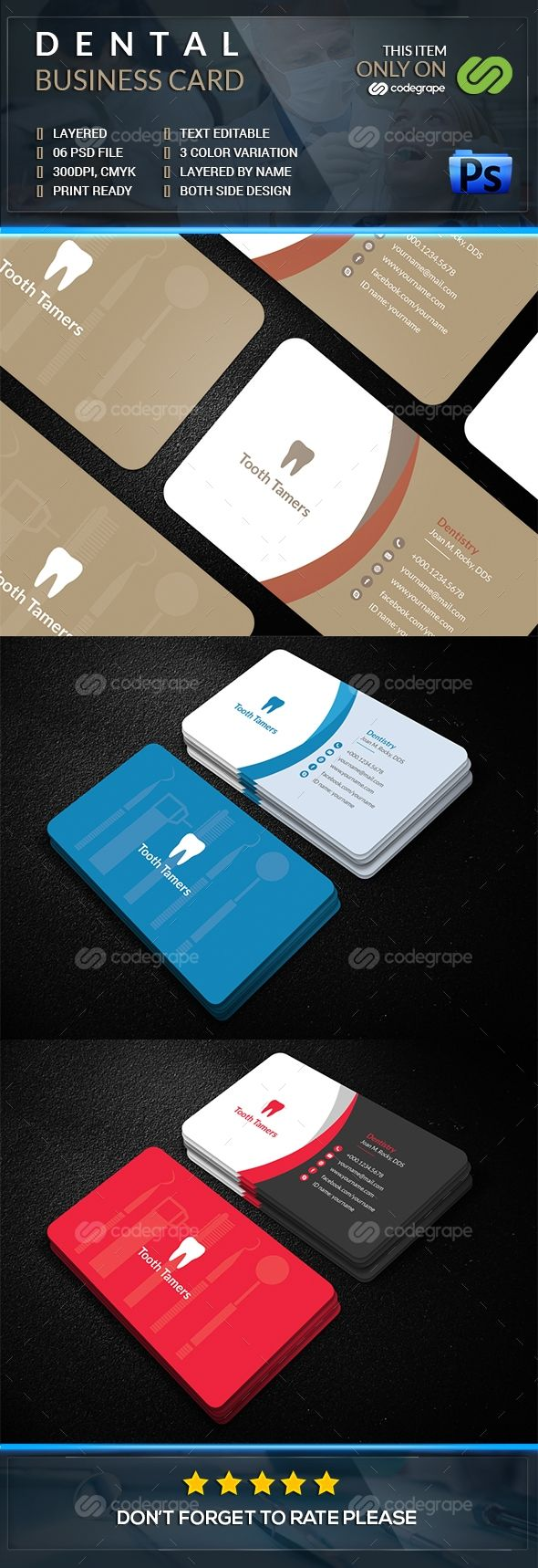 119 best dental clinic logo images on pinterest clinic design dental business card reheart Images