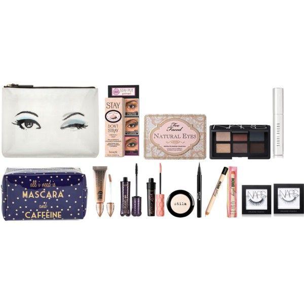 eye makeup  by thatprepsterlibby on Polyvore featuring Kate Spade, Too Faced Cosmetics, Benefit, NARS Cosmetics, tarte, Urban Decay, Bobbi Brown Cosmetics, Stila and Tri-coastal Design