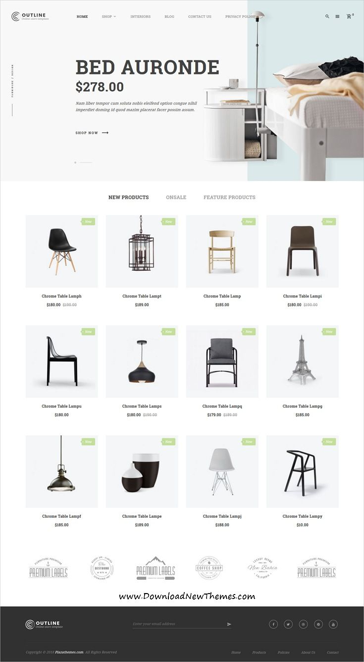 Outline Is Clean And Modern Elegant Design 6in1 Responsive Magento