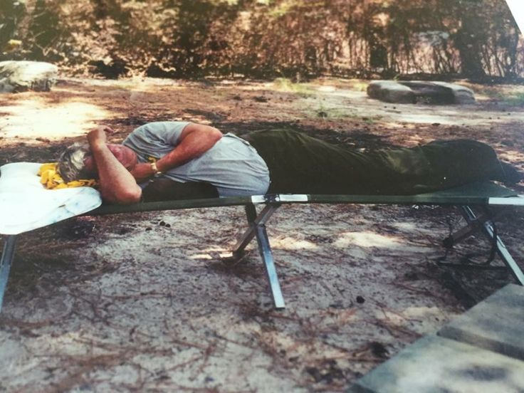 My dad napping at their campsite in Wyoming while on his last call in life. These photos were a blessing to me.