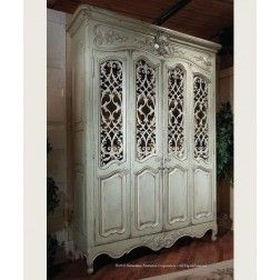 Habersham Louis XV Bibliotheque with Metal Grilles
