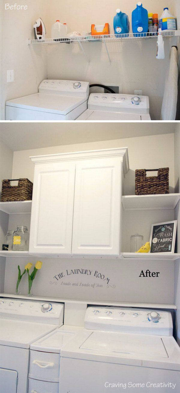 Budget Laundry Room Makeover Reveal.