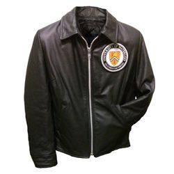 Women's Leather Jacket Front View