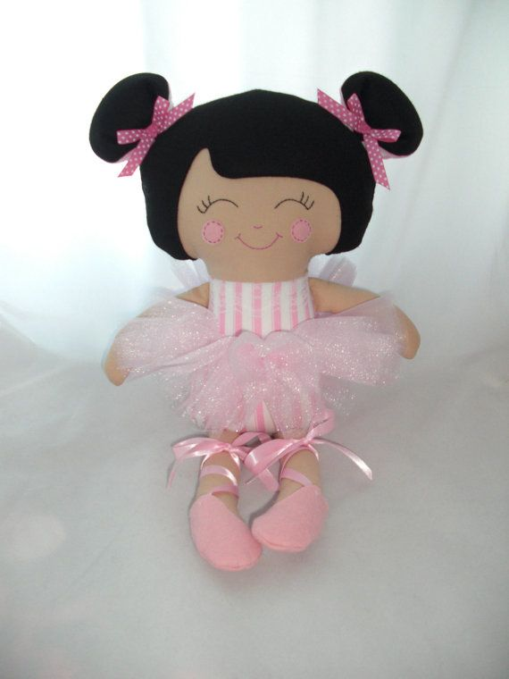 Custom Cloth doll Ballerina doll baby doll dress up by cocomia, $50.00