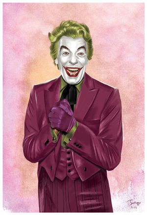 joker cesar romero dc fan art by artist tony santiago