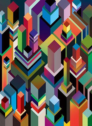 De rechte lijnen die een geometrische vorm geven.