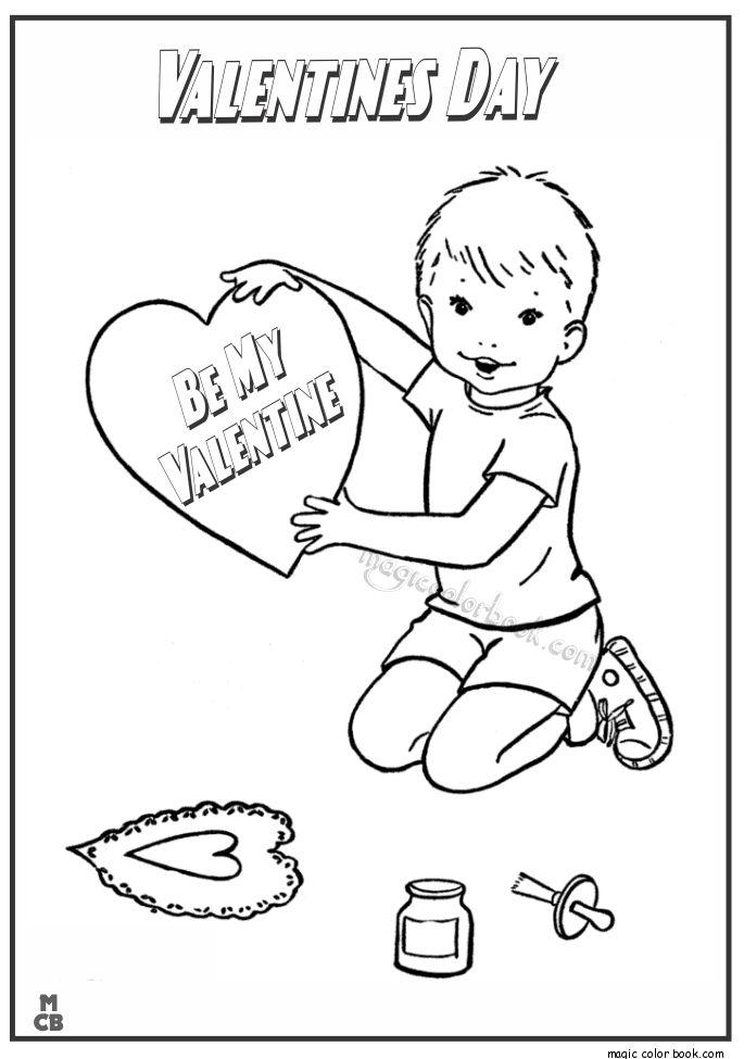 36 besten Valentine\'s Day Coloring pages Bilder auf Pinterest ...