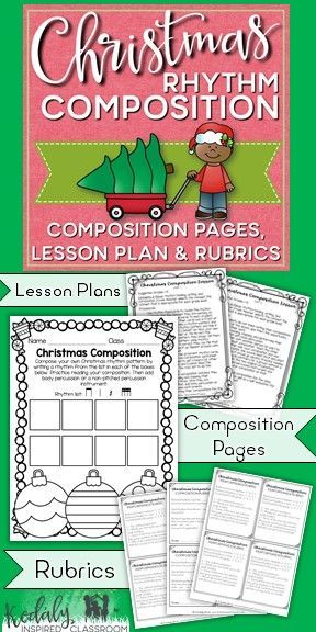 Music Composition: Christmas Rhythm Composition - Are you looking for ways to include more composition and notation opportunities for your students in your lesson? This two - day lesson will help your students feel successful in their ability to compose m