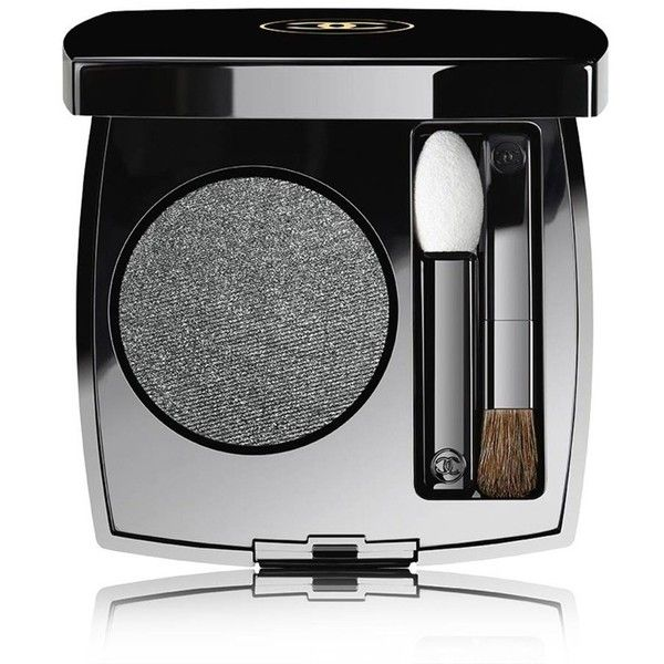 CHANEL Longwear Powder Eyeshadow - Colour Gris Anthracite ($34) ❤ liked on Polyvore featuring beauty products, makeup, eye makeup, eyeshadow, long wear eyeshadow, palette eyeshadow, chanel eyeshadow, chanel eye shadow and chanel