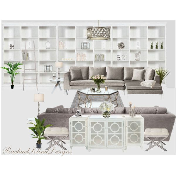 Cream and greytaupe living room by rachaelselina on polyvore