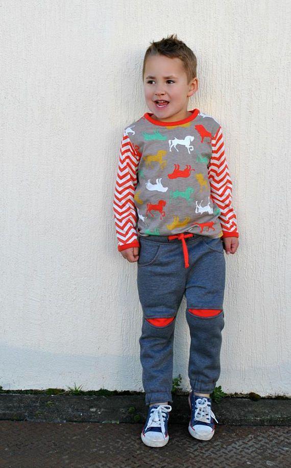 Boys Fleece Pants Sewing Pattern Roscoe Pants Kids Pdf Sewing