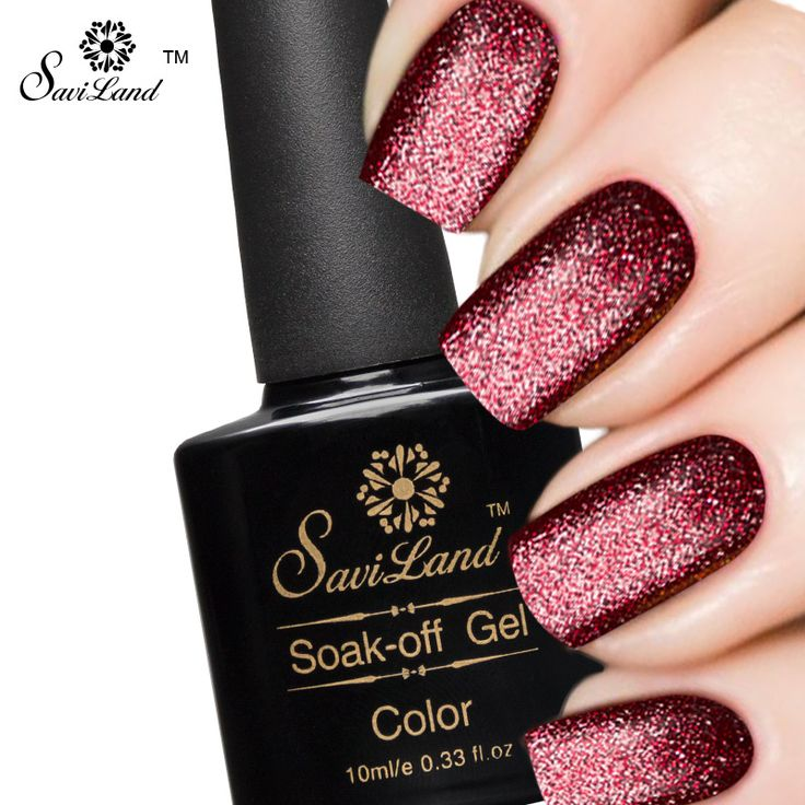 Saviland 1pcs 10ml Shimmer Platinum UV Gel Shining Nail Gel Polish Long-lasting UV Fingernail Gel Soak-off LED Color Gel