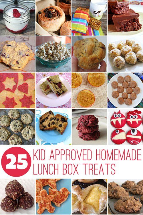 Do you like to make homemade lunch box treats for your kids? These 25 recipes are easy to make and kid approved!