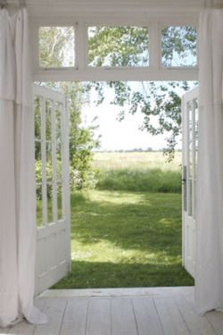 So peaceful (renovated Veranda, from an old country house Sweden..)