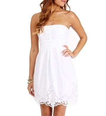 an elegant, pretty white sun dress