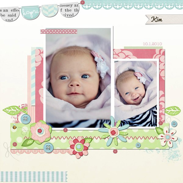 Kim's amazing layout (and photograph) using this kit