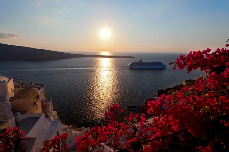 Sunset-Santorini-island