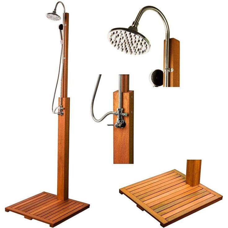 STILISTA FSC Madera dura Ducha de jardín Sauna Jardón Piscina in Casa, jardín y bricolaje, Saunas y spa | eBay