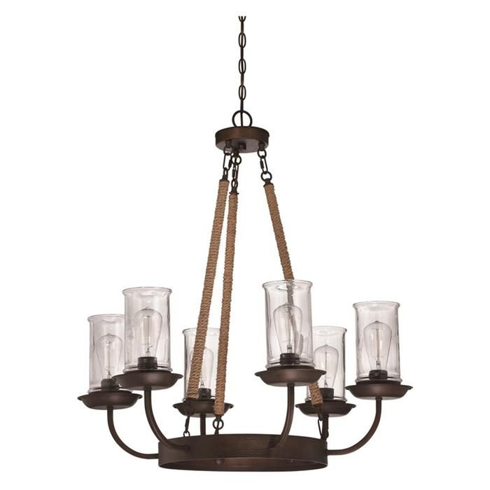 Nebraska furniture mart craftmade international thornton 6 light chandelier in aged bronze
