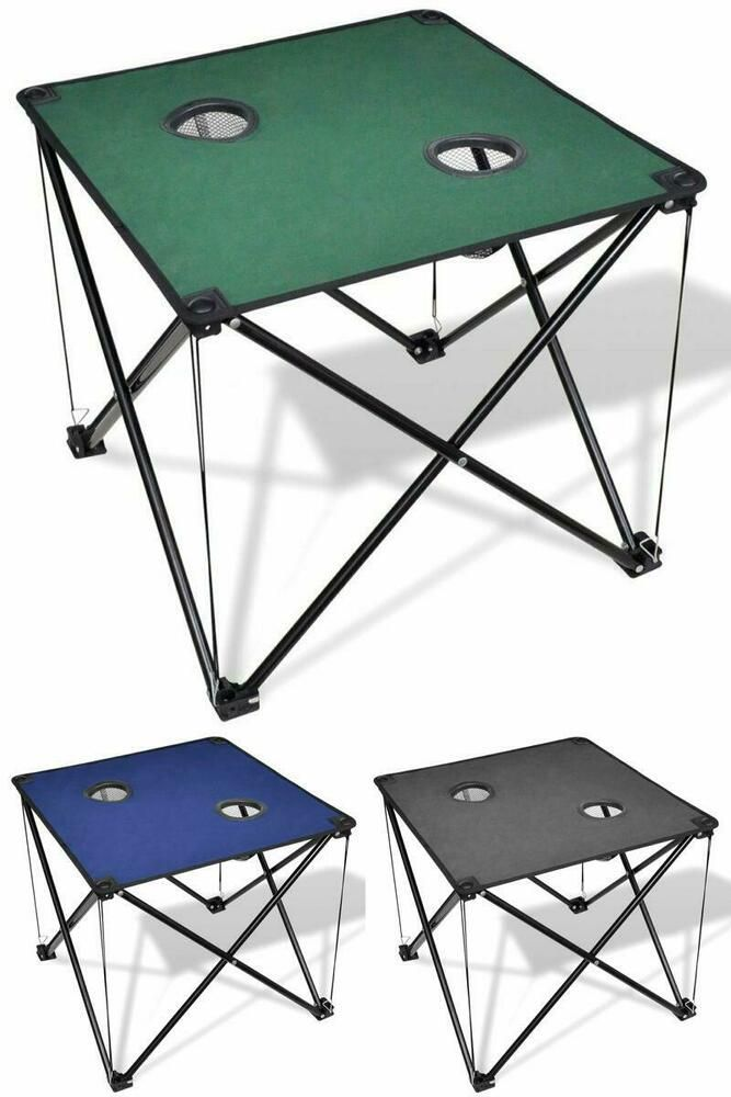 New Portable Folding Camping Picnic Outdoor Beach Garden Chair Side Drink Tray