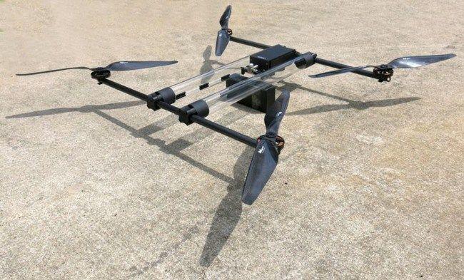 Hycopter, el drone que emplea celdas de hidrógeno como combustible :http://www.xdrones.es/2015/05/hycopter-el-drone-que-emplea-celdas-de-hidrogeno-como-combustible/
