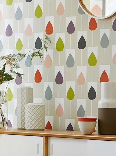 Scion wallpapers are so colourful and happy - the Scandinavians love their Hygge.