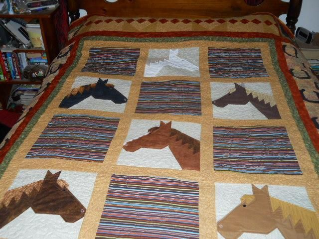 Horse quilt by Cowgirlquilts | Quilting Ideas - Find out more about Cowgirlquilts'Quilting project Horse quilt on Craftsy! - via @Craftsy