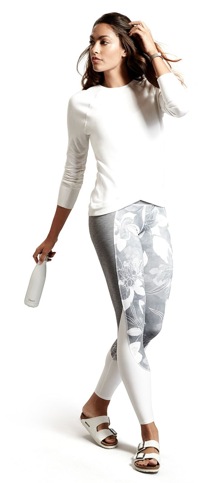 New 2017 Yoga Looks:  High Rise Tropical Flow Chaturanga™ Tight // Criss Cross Sweatshirt