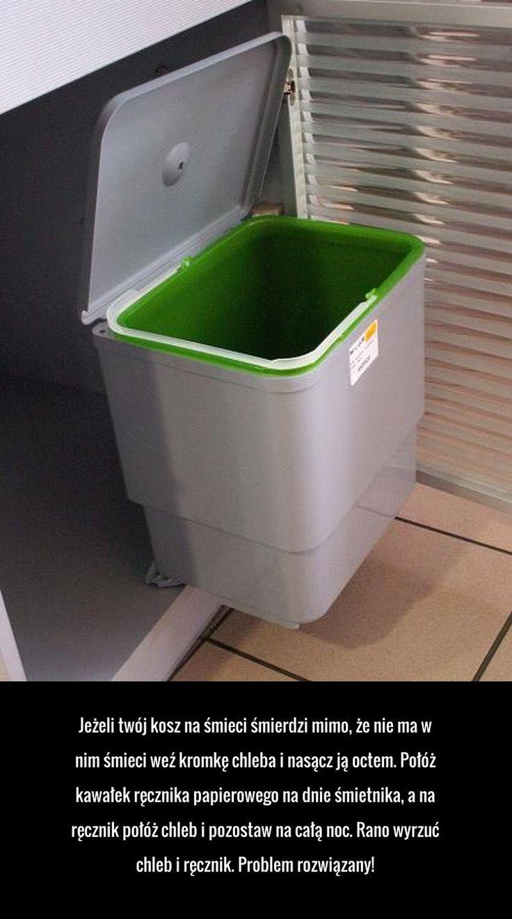 Jeżeli twój kosz na śmieci śmierdzi mimo, że nie ma w nim śmieci weź kromkę chleba i nasącz ją octem. ...