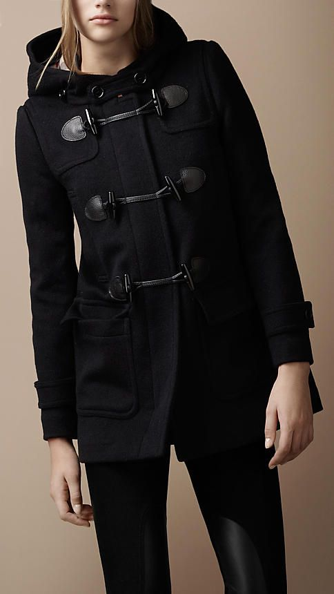 Navy Wool Duffle Coat | Burberry - only affordable in my dreams