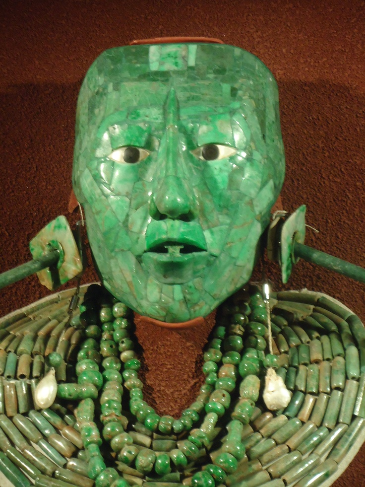 Jade Mask of King K'inich Janaab Pakal ~ K'inich Janaab' Pakal (603 CE- 683 CE) was the Maya king of Palenque in the modern-day State of Chiapas, Mexico.