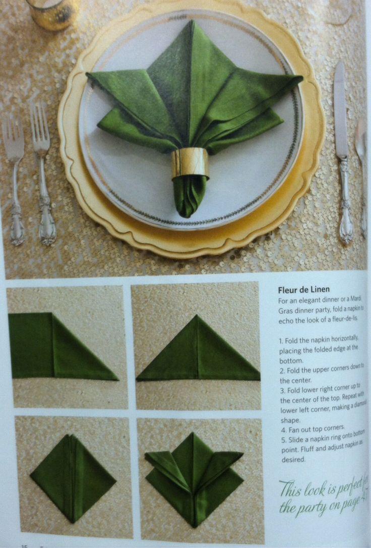Napkin folding More