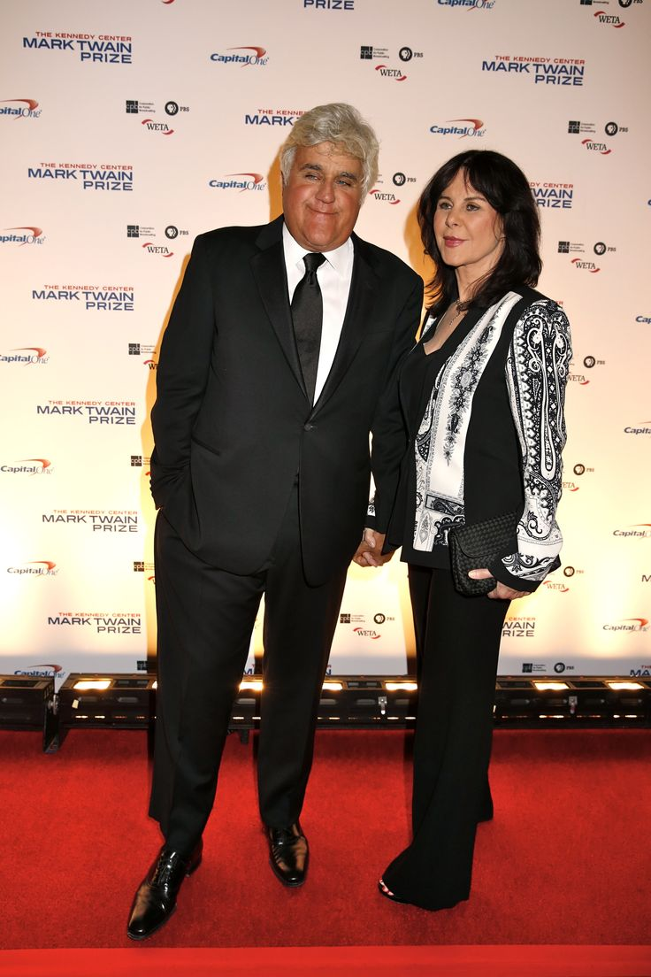 Jay Leno is honored with the 17th Mark Twain Prize for American Humor. Pictured here with wife Mavis Leno on the Kennedy Center's red carpet in Washington, D.C. (photo: Scott Suchman)