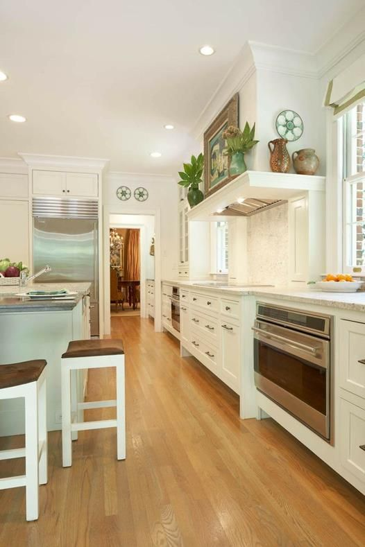 white modern american kitchen design #espacios