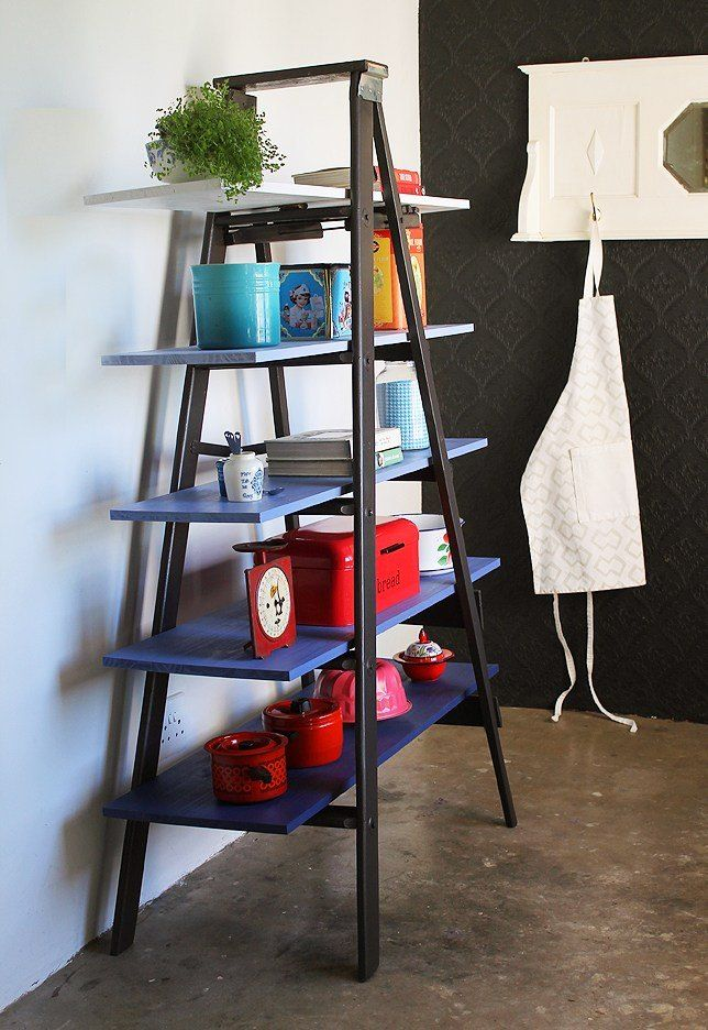 Turn an Old Ladder into Super Storage | Crafty Things ...