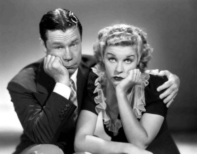 """Joe E. Brown and Penny Singleton from the """"Blondie and Dagwood"""" Movies"""
