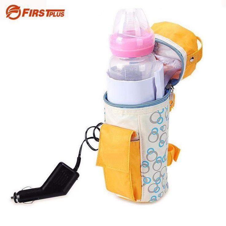 buy on wallmart.win 12V CE Safe Car Insulation Bags Baby Feed Bottle Heater Universal Infant Feeding Milk Tea Drink Warmer For Auto Travel…