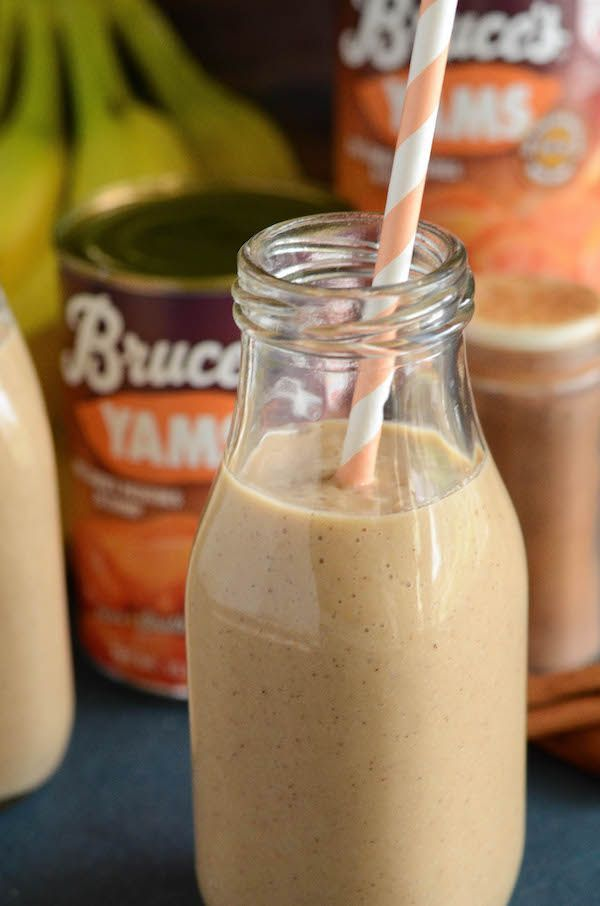 Sweet Potato Pie Smoothie - vegan, gluten free and made with just 4 ingredients including @Bruces