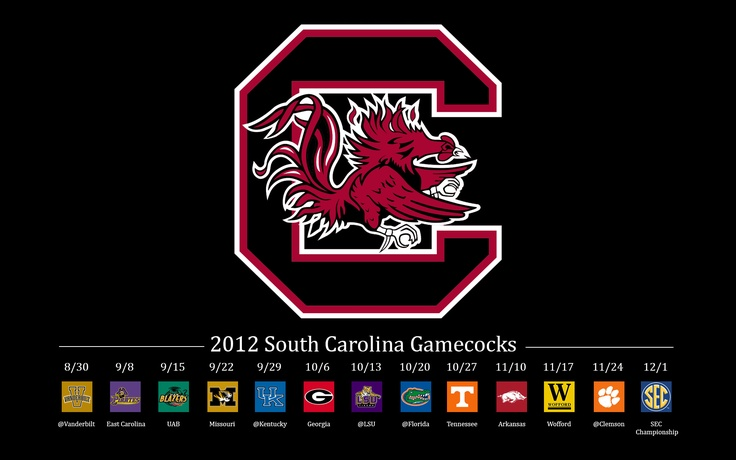 2012 USC Gamecocks Schedule