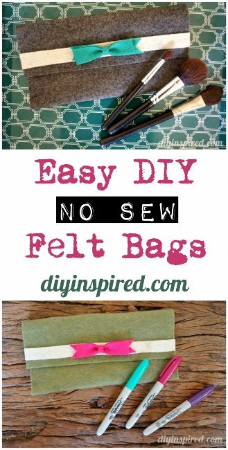 Easy Felt No Sew Bags by @diyinspired/