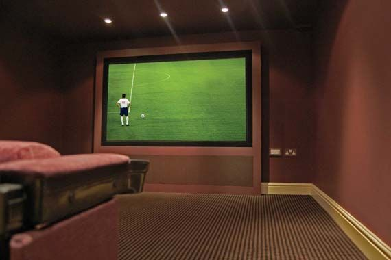 Creative Home Cinema - Specialists in home cinema design, installation and integrated home solutions - Creative Gallery - Mini-Cine - Converted Wine Cellar