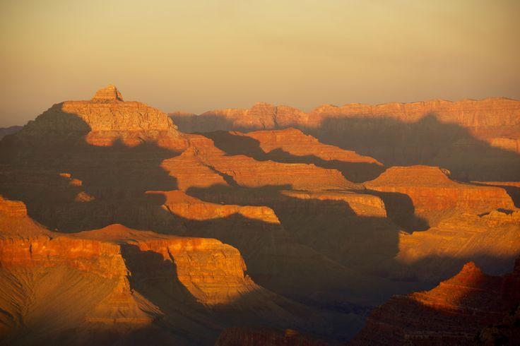 Sunset at Grand Canyon National Park, south rim.