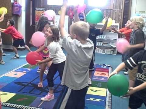 Dalcroze Eurhythmics Whole note - YouTube (The balloon allows them to plan their catch--genius!)