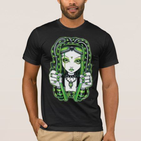 'Vivian' Cyber goth Dark Industrial Fairy Shirt - tap, personalize, buy right now!